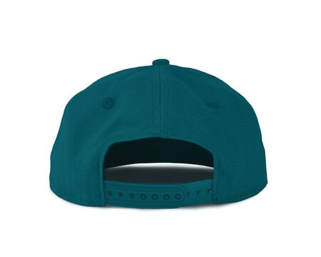 Add your graphic into this Back View Snapback Cap Mock Up In Biscay Bay Color as well as you like, You can customize almost everything in this image.