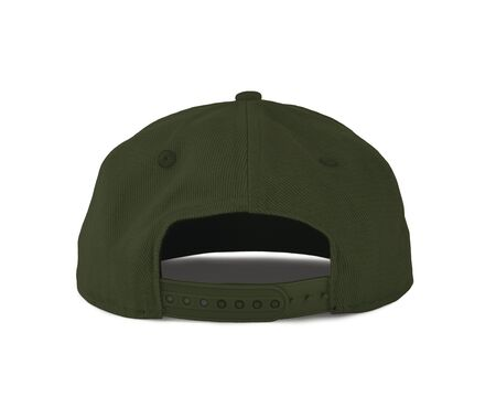 Add your graphic into this Back View Snapback Cap Mock Up In Cypress Green Color as well as you like, You can customize almost everything in this image.