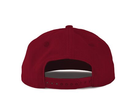 Add your graphic into this Back View Snapback Cap Mock Up In Chili Pepper Color as well as you like, You can customize almost everything in this image.