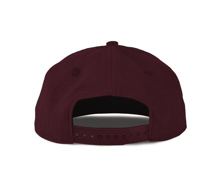 Add your graphic into this Back View Snapback Cap Mock Up In Tawny Port Color as well as you like, You can customize almost everything in this image.