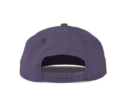 Add your graphic into this Back View Snapback Cap Mock Up In Purple Haze Color as well as you like, You can customize almost everything in this image.