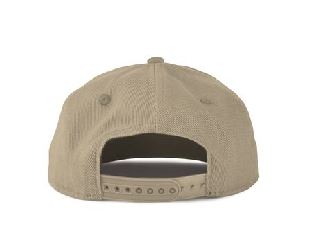 Add your graphic into this Back View Snapback Cap Mock Up In Vanilla Custard Color as well as you like, You can customize almost everything in this image. Imagens