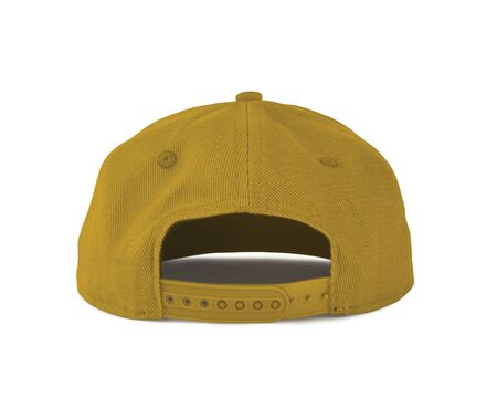 Add your graphic into this Back View Snapback Cap Mock Up In Freesia Yellow Color as well as you like, You can customize almost everything in this image. Imagens