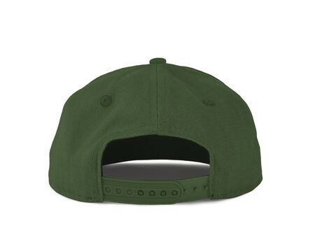 Add your graphic into this Back View Snapback Cap Mock Up In Green Kale Color as well as you like, You can customize almost everything in this image. Imagens