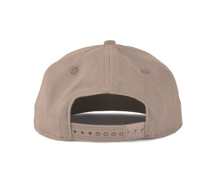 Add your graphic into this Back View Snapback Cap Mock Up In Creme de Peche Color as well as you like, You can customize almost everything in this image.