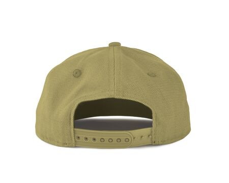 Add your graphic into this Back View Snapback Cap Mock Up In Yellow Custard Color as well as you like, You can customize almost everything in this image.