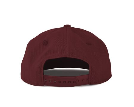 Add your graphic into this Back View Snapback Cap Mock Up In Merlot Beries Color as well as you like, You can customize almost everything in this image. 写真素材