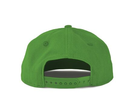 Add your graphic into this Back View Snapback Cap Mock Up In Green Flash Color as well as you like, You can customize almost everything in this image. Imagens
