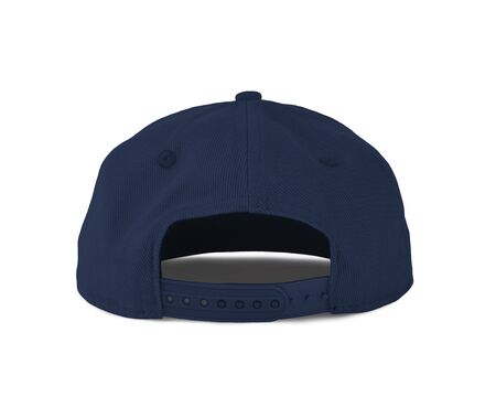 Add your graphic into this Back View Snapback Cap Mock Up In Navy Peony Color as well as you like, You can customize almost everything in this image. Imagens