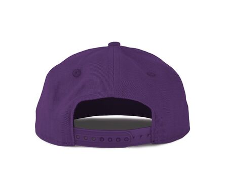 Add your graphic into this Back View Snapback Cap Mock Up In Royal Lilac Color as well as you like, You can customize almost everything in this image.