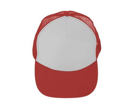 Impressive Up View Realistic Cap Mock Up In Valiant Poppy Color. Add your brand designs or logo on this realistic hat mock up. Imagens