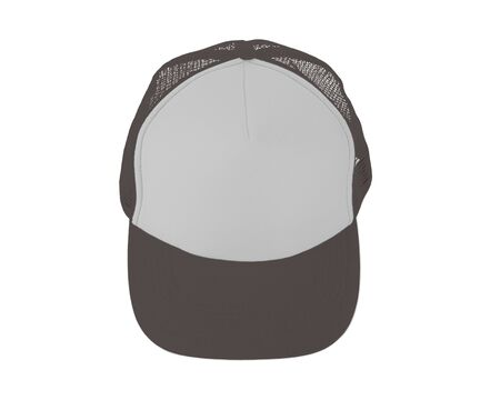 Impressive Up View Realistic Cap Mock Up In Rocky Granite Color. Add your brand designs or logo on this realistic hat mock up.