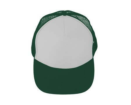 Impressive Up View Realistic Cap Mock Up In Green Eden Color. Add your brand designs or logo on this realistic hat mock up.