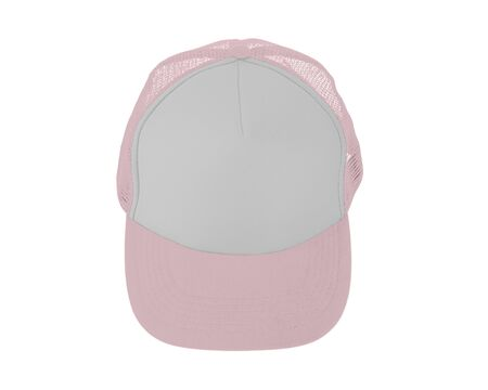 Impressive Up View Realistic Cap Mock Up In Rose Quartet Color. Add your brand designs or logo on this realistic hat mock up.
