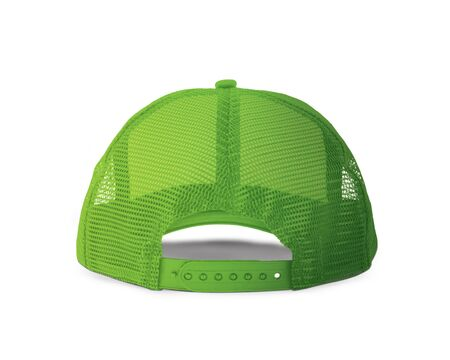 With these Back View Realistic Cap Mock Up In Green Flash Color templates you don't have to wait for your brand artwork to be done. Add your graphic into this HD Mock-up.