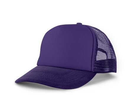 Side View Realistic Cap Mock Up In Ultra Violet Color is a high resolution hat mockup to help you present your designs or brand logo beautifully.