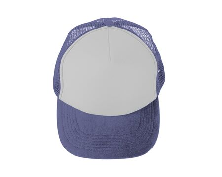 Make your design work becomes more practical with this Front View Realistic Cap Mock Up In Violet Tulip Color Stock Photo
