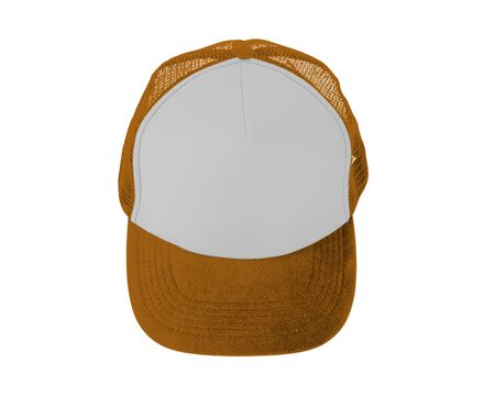 Make your design work becomes more practical with this Front View Realistic Cap Mock Up In Light Cheddar Color