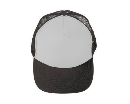 Make your design work becomes more practical with this Front View Realistic Cap Mock Up In Rocky Granite Color Stock Photo