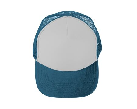 Make your design work becomes more practical with this Front View Realistic Cap Mock Up In Blue Niagara Color
