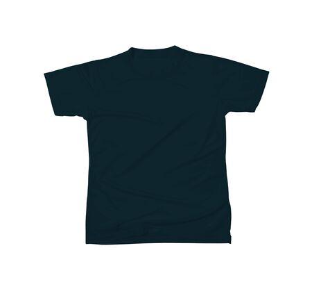 Maquette de t-shirt personnalisable de couleur noire royale pour vous aider à personnaliser le logo ou les designs de votre marque comme un pro.