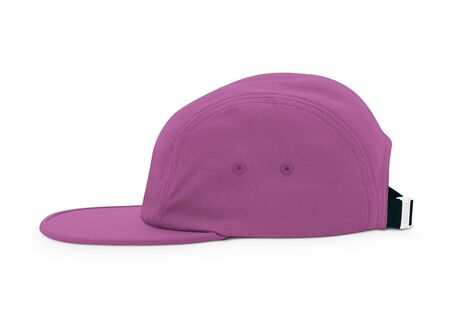 A modern Side View Cool Guy Cap Mock Up In Royal Lilac Color template to make your work more faster.