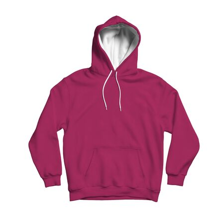 Use this blank Cute Hoodie Mock Up In Dark Sangria Color to make your design becomes more luxurious Archivio Fotografico