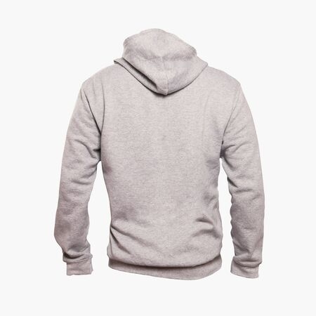 This Back View Men Hoodies Mock Up In White Tofu Color is a ready-made mock up to makes your design process faster.