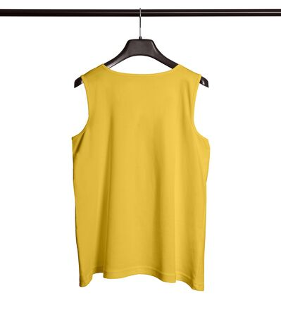 You can make your logo design more beautiful with this Back View Men Tank Top Mock Up With Hanger In Prime Rose Color.