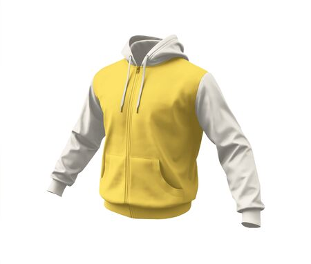 A blank Side View Realistic Hoodie Mockup In Prime Rose Color to help your designs process more faster.