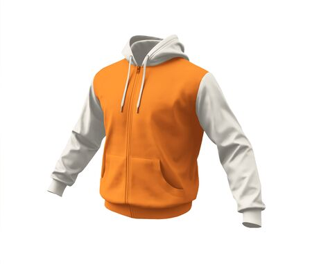 A blank Side View Realistic Hoodie Mockup In Turmeric Powder Color to help your designs process more faster.