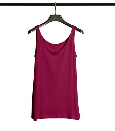 Pasting your graphic to this Front View Women Tank Top Mock Up With Hanger In Dark Sangria Color and everything will be done. 版權商用圖片