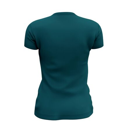 This Back View Womens V Neck T Shirts Mock Up In Green Eden Color was easy to use, just add your graph and everything is done. Archivio Fotografico