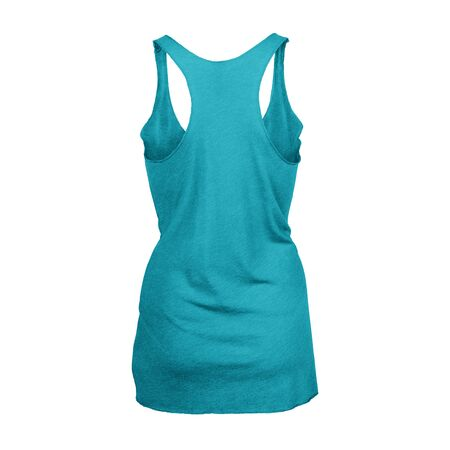 This high resolution Back View Tri blend Racer back Tank Top In Scuba Blue Color For Women will make your designing work as photo realistic result in mere minutes. Imagens