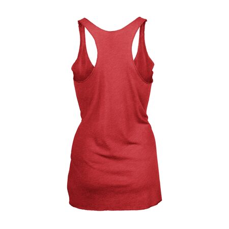 This high resolution Back View Tri blend Racer back Tank Top In Flame Scarlet Color For Women will make your designing work as photo realistic result in mere minutes.