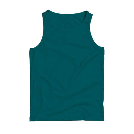 Make your design logo more real with this Front View Sleeveless Tank Top Mock Up In Green Color.