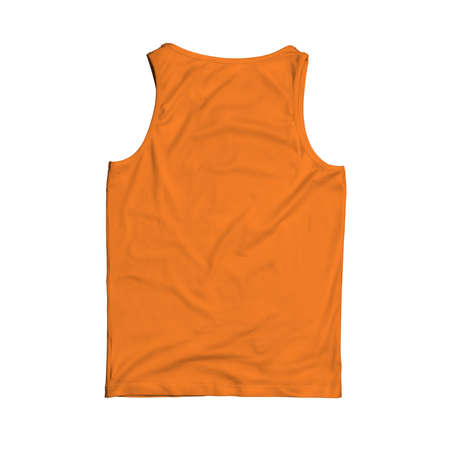 Back View Sleevesless Tank Top Mock Up In Turmeric Powder Color will help you easily customize your logo or designs like a pro. Фото со стока