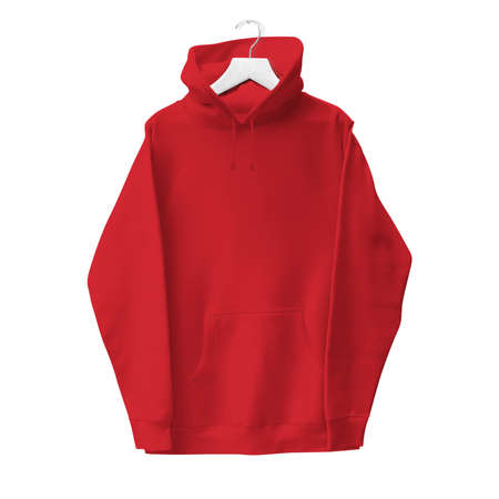 Grab this Simple Hoodie Mock Up In Flame Scarlet Color With Hanger to give a boost to your designing progress.