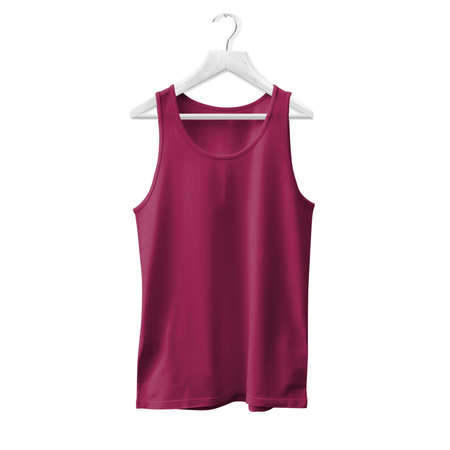 Make your design and logo more real with this Tank Top Mock Up In Dark Sangria Color With Hanger For All Gender. Stock fotó