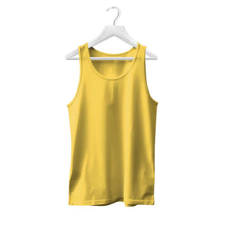 Make your design and logo more real with this Tank Top Mock Up In Prime Rose Color With Hanger For All Gender. Stock fotó