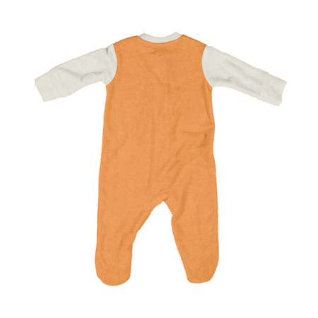 Jump straight into creating beautiful images for your design, with this Back View Beautiful Baby Jumpsuit Mock Up In Turmeric Powder Color.
