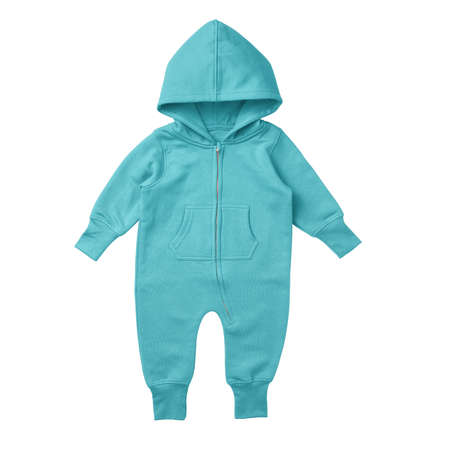 This Front View Premium Baby Fleece Mockup In Blue Radiance Color, is printable and can easily be edited using any image editing software. Foto de archivo