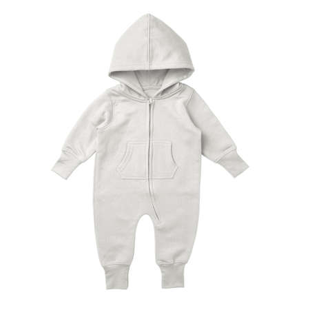 This Front View Premium Baby Fleece Mockup In Snow White Color, is printable and can easily be edited using any image editing software. Foto de archivo