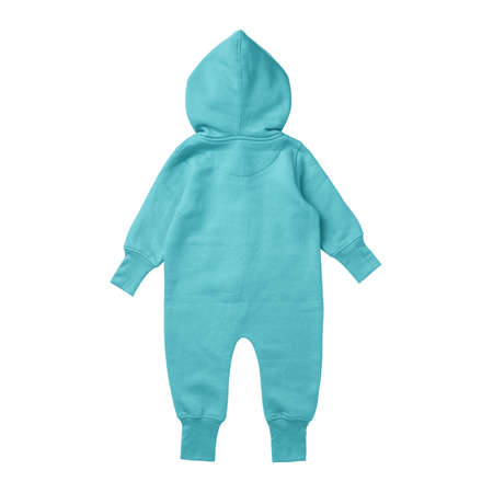 This Back View Premium Baby Fleece Mockup In Blue Radiance Color, create for businesses to market their items in a clever and inexpensive way. Foto de archivo