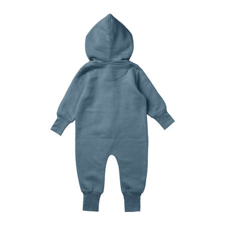 This Back View Premium Baby Fleece Mockup In North Atlantic Color, create for businesses to market their items in a clever and inexpensive way.