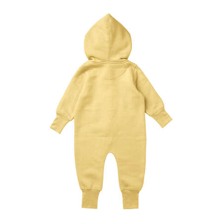 This Back View Premium Baby Fleece Mockup In Lemon Meringue Color, create for businesses to market their items in a clever and inexpensive way. Foto de archivo