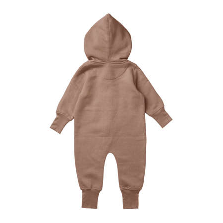 This Back View Premium Baby Fleece Mockup In Mocha Mousse Color, create for businesses to market their items in a clever and inexpensive way.