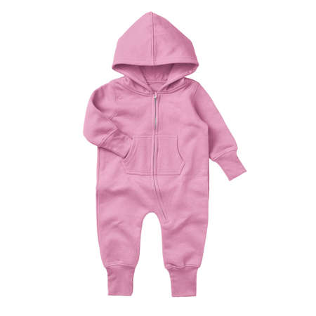 Give a professional touch to your design with this Front View Beautiful Baby Fleece Mock Up In Begonia Pink Color.