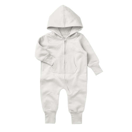 Give a professional touch to your design with this Front View Beautiful Baby Fleece Mock Up In Snow White Color.