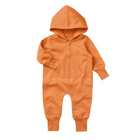 Give a professional touch to your design with this Front View Beautiful Baby Fleece Mock Up In Sun Orange Color.